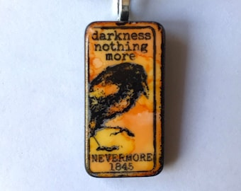 Edgar Allen Poe necklace Nevermore