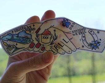 Commonweath Handshakes Sticker
