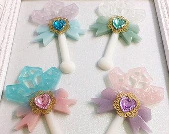Crystal Wand Pin | Fairy Kei Brooch | Lolita Brooch | Crystal Wand Brooch | Magical Girl Wand | Mahou Kei Pin | Sweet Lolita Pin
