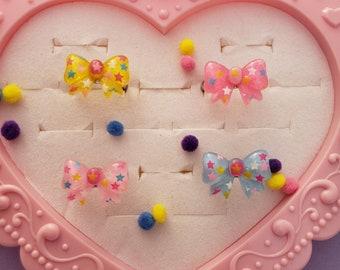Fairy Kei Bow Ring | Fairy Kei Ring | Kawaii Ring | Pastel Ring | Pink Ring | Chibi Ring | Sweet Lolita Ring | Decora Kei