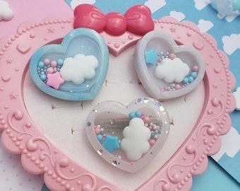 Pastel Heart Hair Clip | Heart Clip | Pastel Shaker Clip | Heart Shaker | Pink Hair | Heart Clip | Sweet Lolita Hair