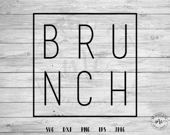 17+ Brunch And Mimosas – Brunch – Svg – Pdf – Dxf – Hand Drawn Lettered Cut File – Graphic Overlay DXF
