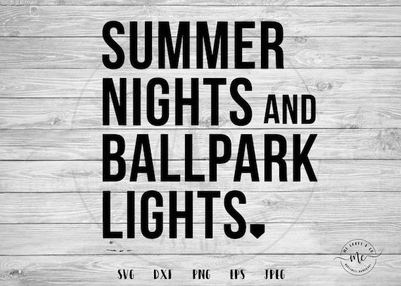 d0670dc695fb Summer Nights and Ballpark Lights Baseball SVG Baseball Mom