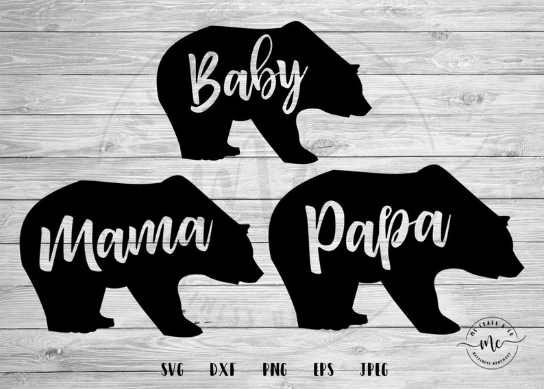 d9fbcc85 Mama Bear svg Papa Bear svg Baby Bear svg bundle svg Baby   Etsy