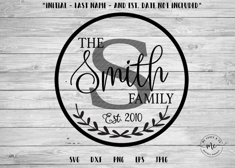 Monogram SVG Family Name svg Last Name svg Farmhouse Sign image 0