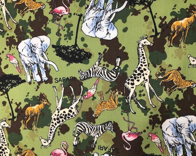 High quality cotton poplin with safari or savanna print