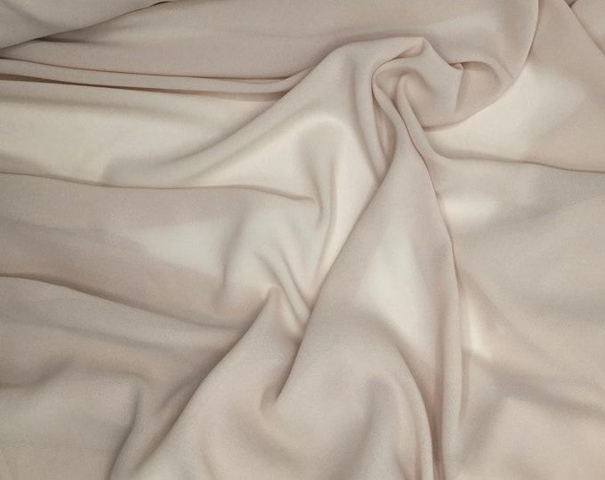 High quality Faux Silk Chiffon. Nude beige N27