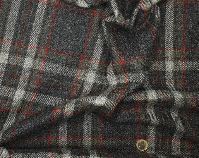 Genuine Shetland pure wool fabric, Woven checks