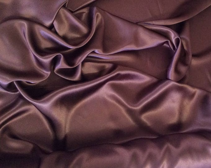 High quality silky satin, very close to genuine silk satin. Brown Chocolate No55