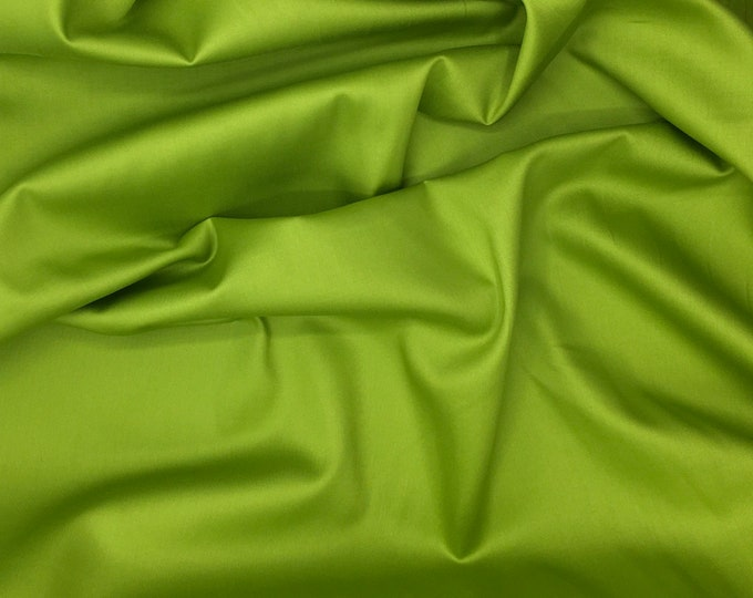 High quality cotton satin, apple green nr9