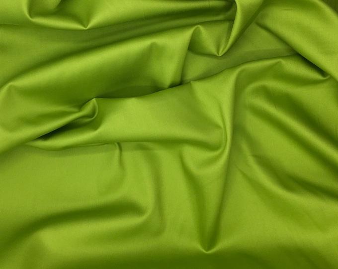 High quality cotton sateen, apple green nr9