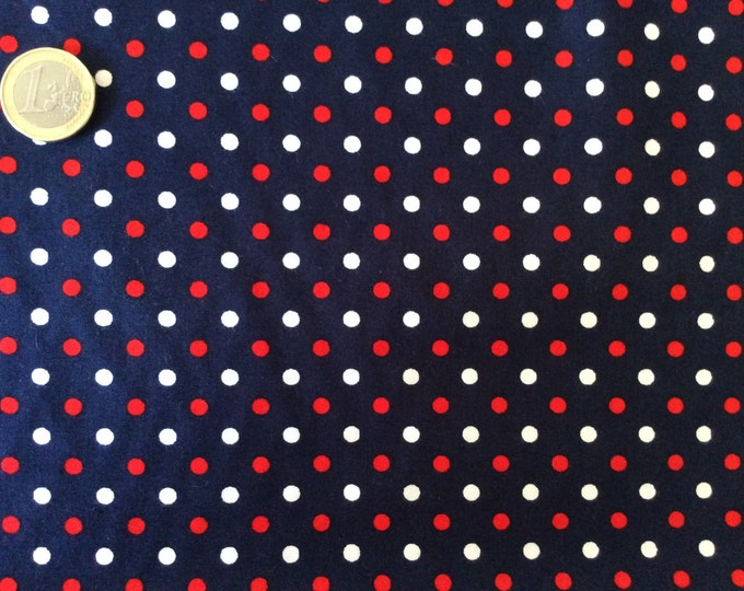 High quality cotton poplin dyed in Japan with 4mm polka dot