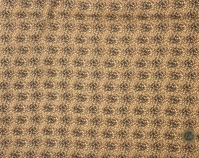High quality cotton poplin, brown blender print