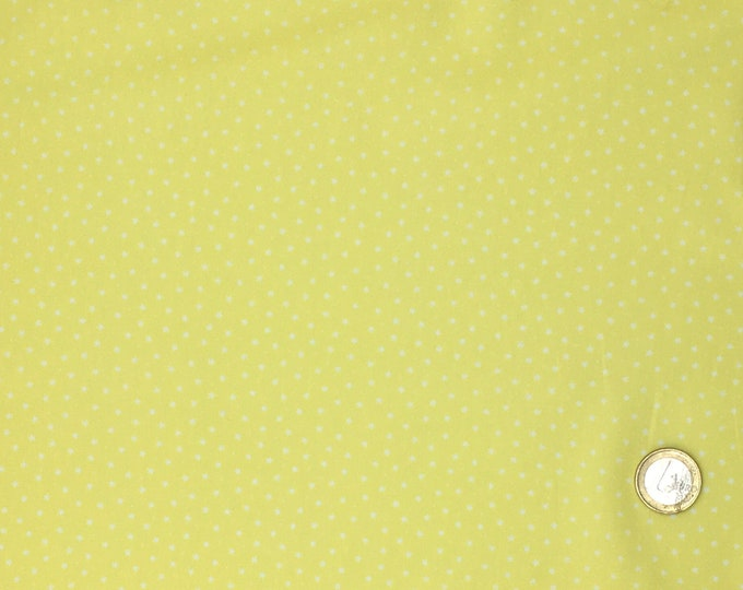 High quality cotton poplin, stars on yellow