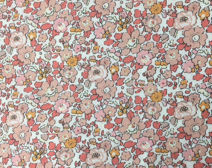 Tana lawn fabric from Liberty of London, exclusive Betsy Ann Peach