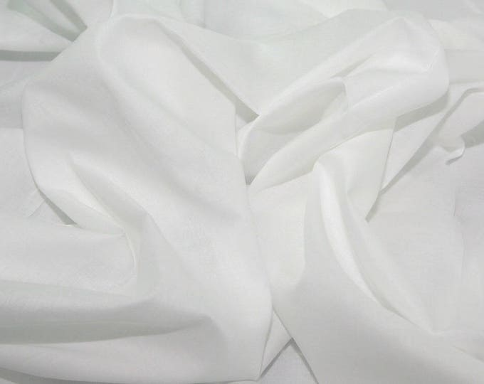 Plain cotton lawn fabric, white no1
