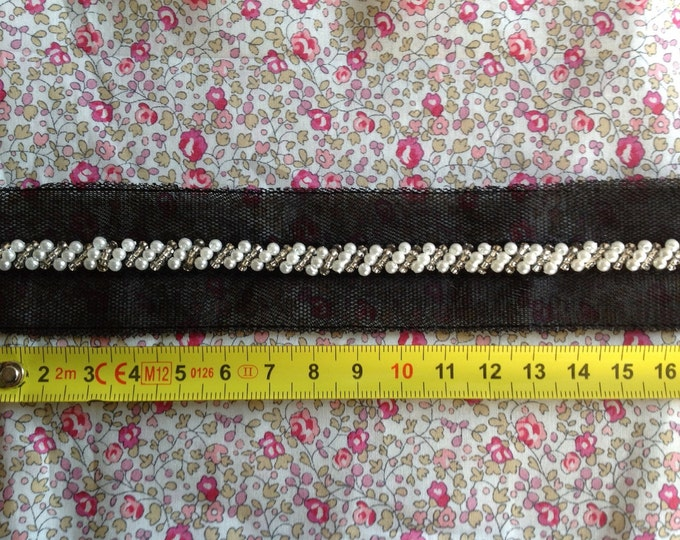 Beaded or Embroidered ribbon, sold per meter