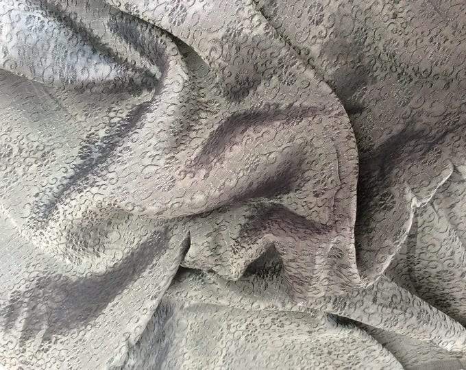Silk sateen fabric, brocade weave