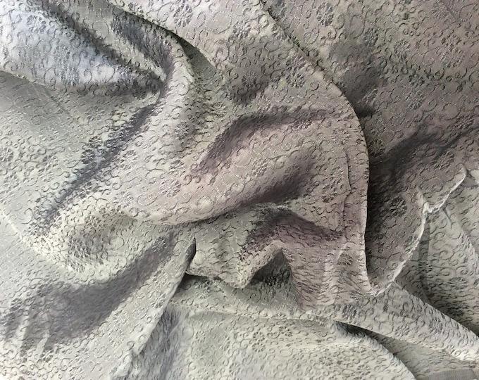 Silk sateen fabric, brocade weave