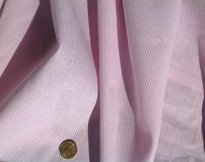 High quality polycotton poplin, woven stripes. Pink no1