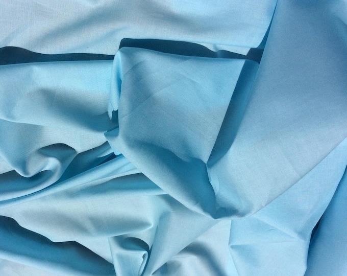 Plain cotton lawn fabric, pastel turquoise no36