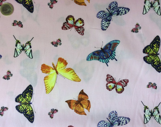 High quality cotton poplin dyed in Japan with butterflies
