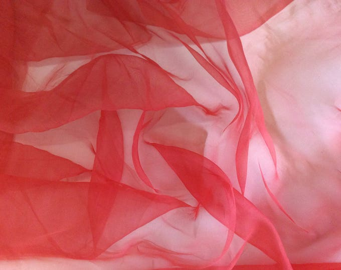 Genuine silk organza fabric