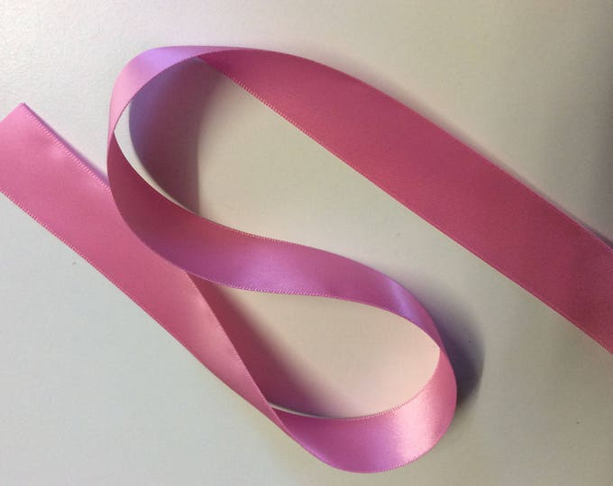 Mid pink double sided sateen ribbon no178
