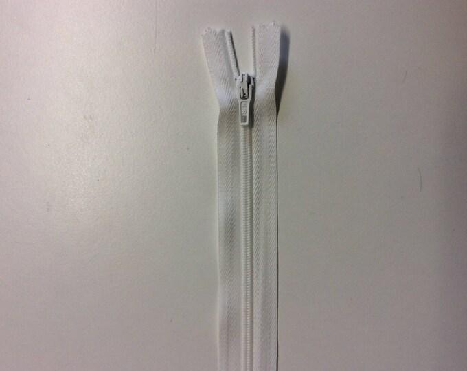 "Nylon coil zippers, 20cm (8""), ecru"