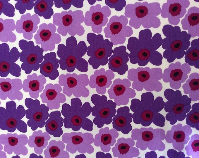 High quality cotton poplin, purple vintage floral print