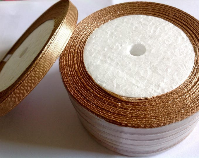 Roll of 22.5m of satin ribbon single face, mole no60