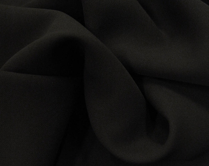High quality Faux Silk Chiffon, very close to genuine silk chiffon. Black No37