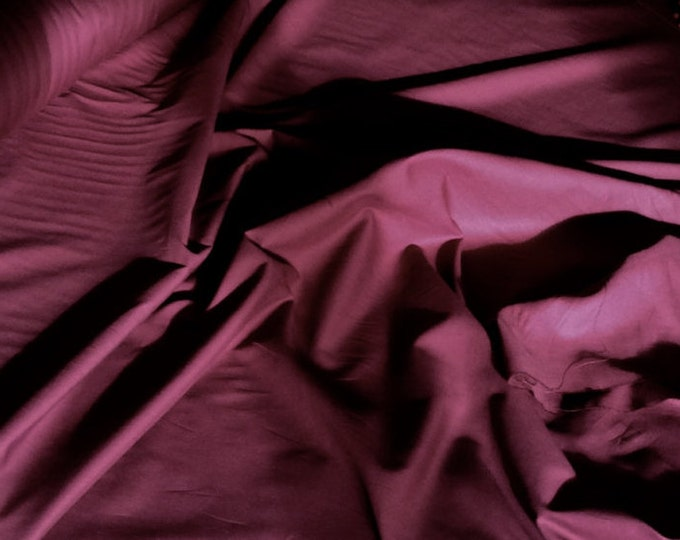 High quality cotton lawn dyed in Japan. Dark Bordeaux no44