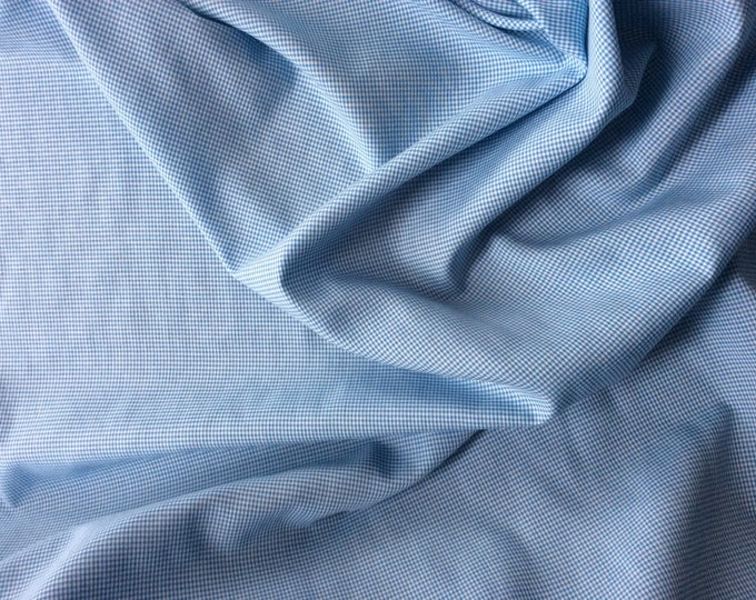 Cotton poplin, turquoise check weave