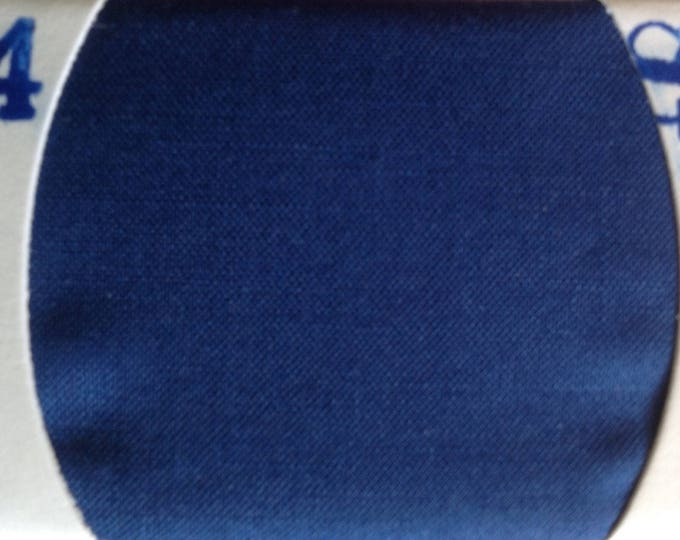 Plain cotton lawn fabric, dark royal blue no54