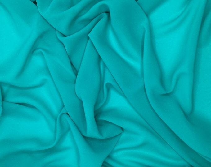 High quality Faux Silk Chiffon, very close to genuine silk chiffon. Green Water No24