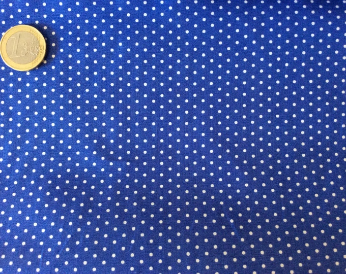 High quality cotton poplin dyed in Japan with 2mm polka dots, no28