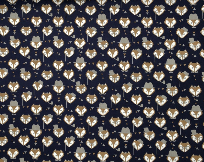 High quality cotton poplin. Mister Fox, navy