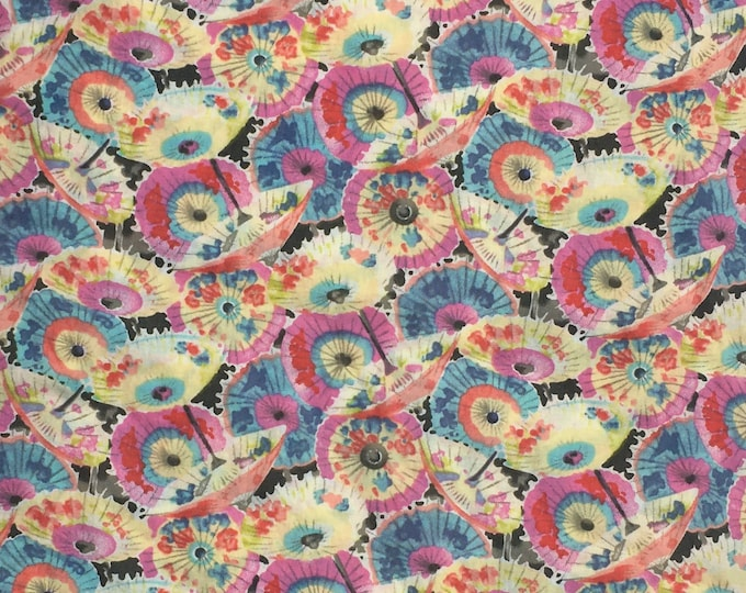 English Pima lawn cotton fabric, Tokyo in spring