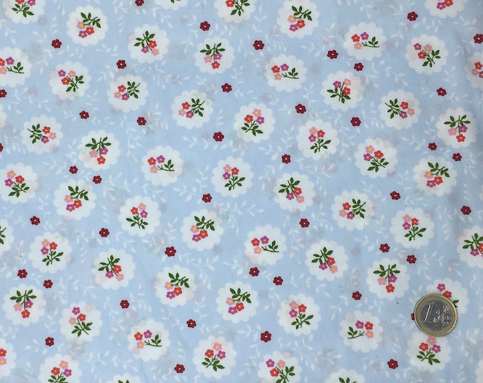 High quality cotton poplin printed in Japan, vintage floral print