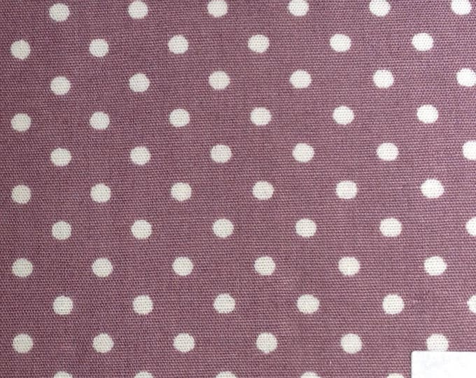 High quality cotton poplin, polka dots on fig, no27