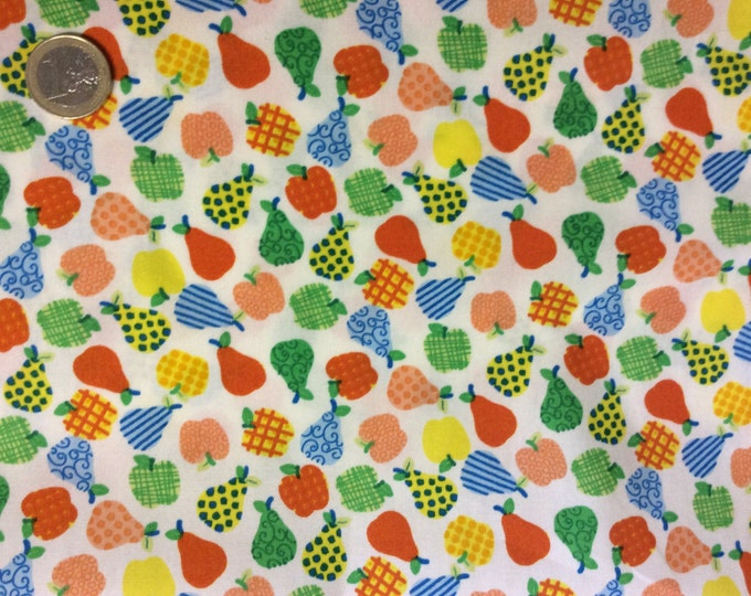 High quality cotton poplin dyed in Japan, fruit print