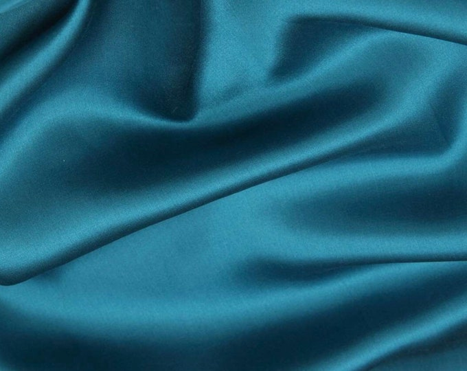 High quality cotton satin, teal col40