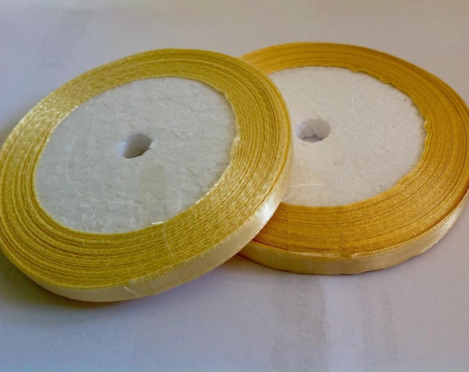Rool of 22.5m of satin ribbon single face, yellow chick no09