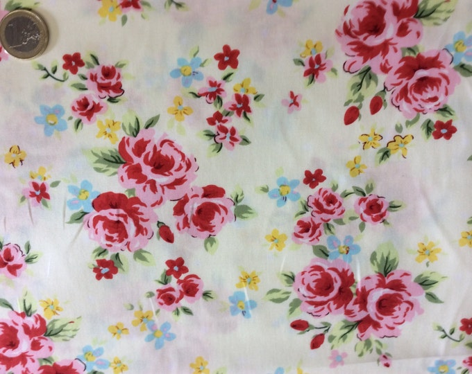 High quality cotton poplin dyed in Japan with Floral print