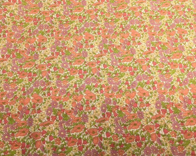 Tana lawn fabric from Liberty of London, exclusive petal and bud Solaris