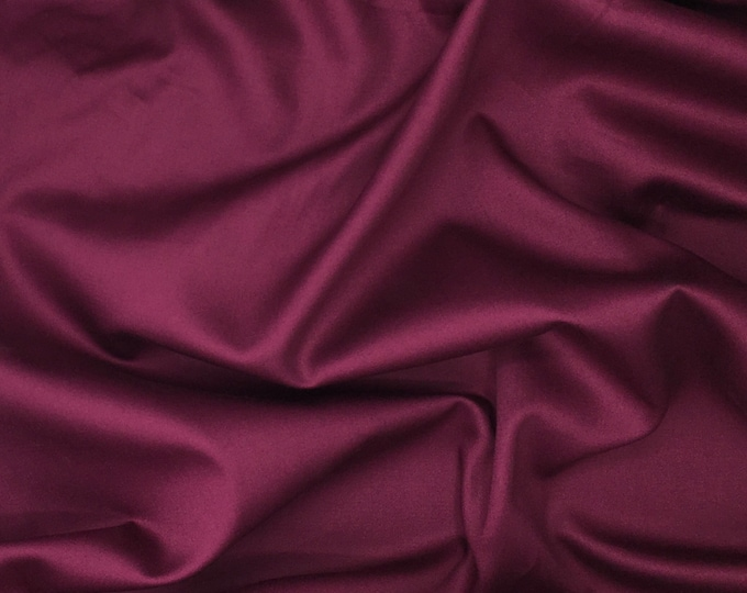 High quality cotton satin, eggplant nr24
