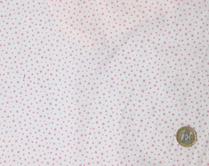 High quality cotton poplin, pink stars