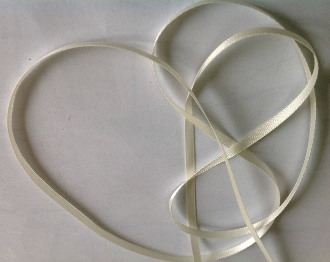 Antique white double sided sateen ribbon