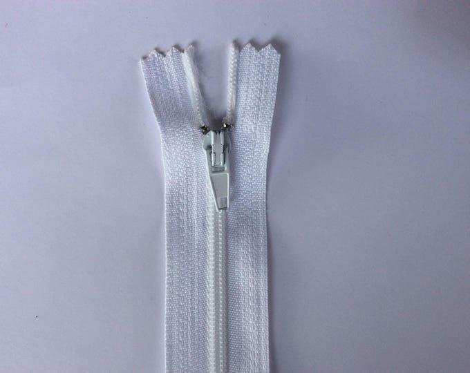 """Nylon coil zipper, 30cm (12""""), white"""